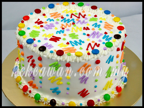 Rainbow Cake for Makan-Makan