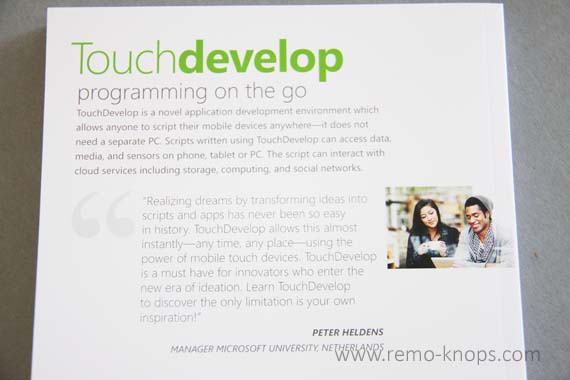 TouchDevelop Programming on the go - Book Review 4175