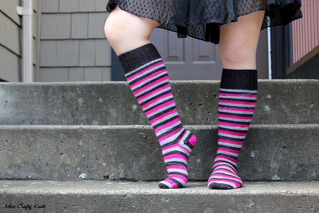 Domestic Badass Knee Socks - Side
