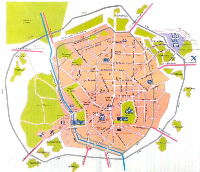 Plano Turistico Madrid