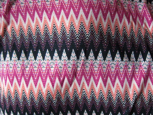 Pinka and purple chevron rayon/lycra knit large print