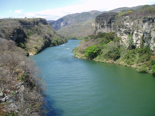 river mexico canyon gorge chiapas