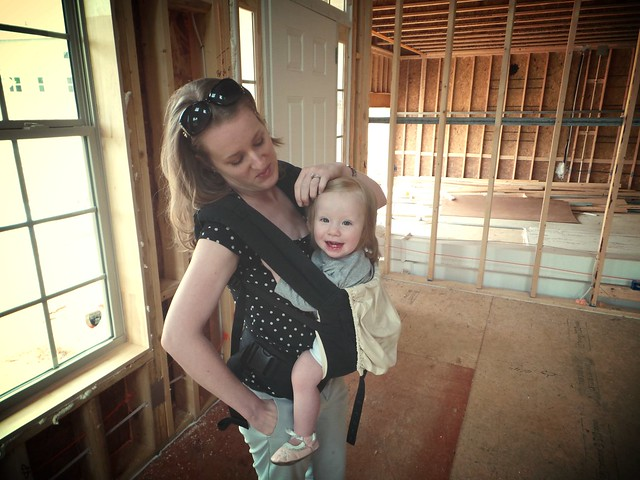 Norah is happy about the new house!