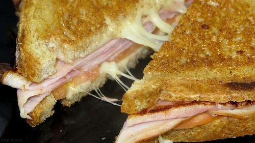 Ham, tomato, and mozzarella melt by Coyoty