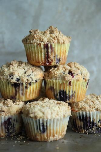 Lemon Blueberry Streusal Muffins