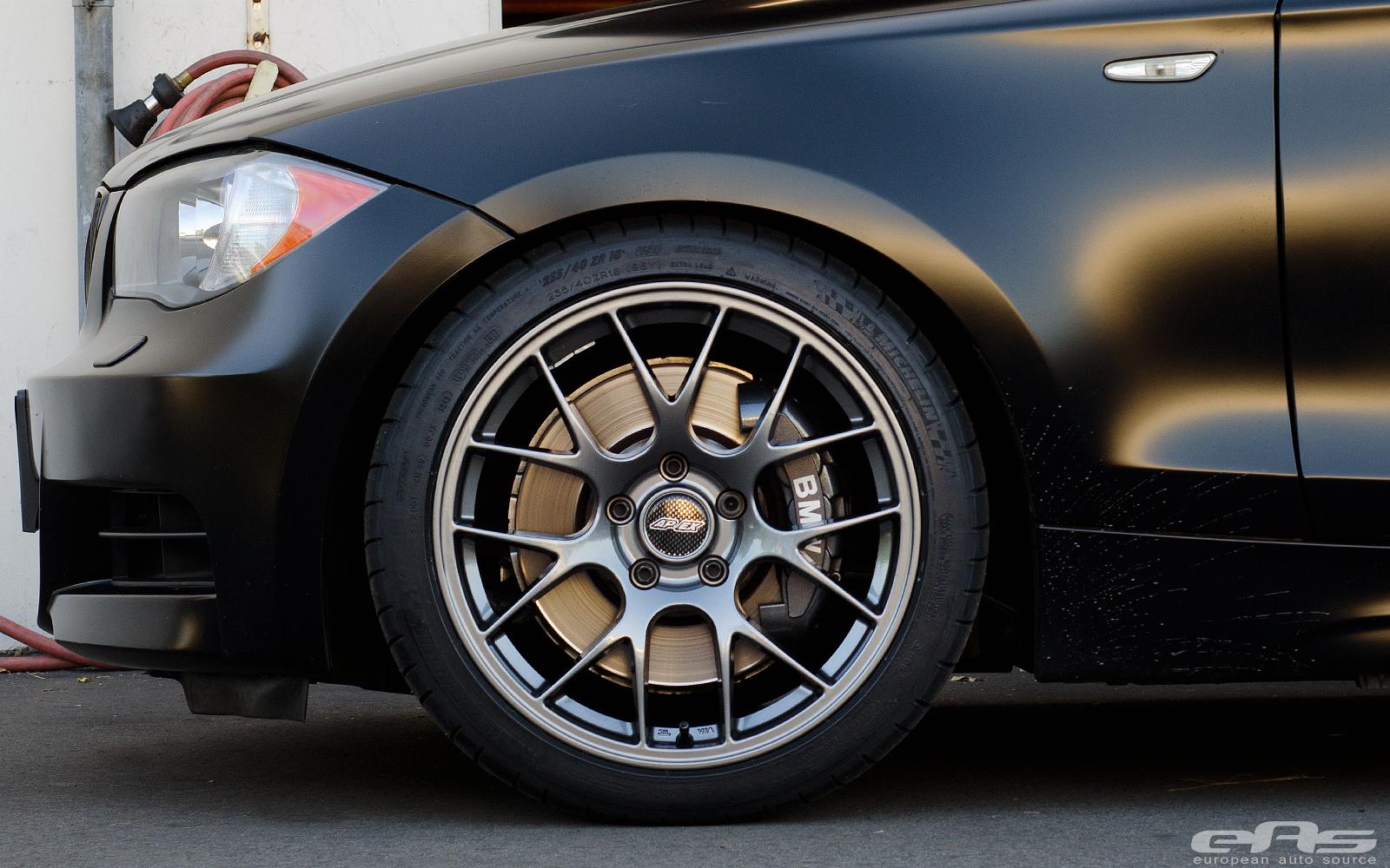 Frozen Black 135i On Apex Ec 7 Wheels Bmw Performance