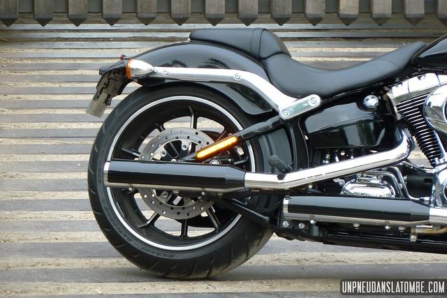 Le frein arrière de la nouvelle Harley-Davidson Softail Breakout.