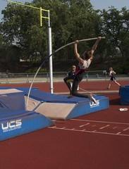 athletics, track and field athletics, sports, pole vault, person,