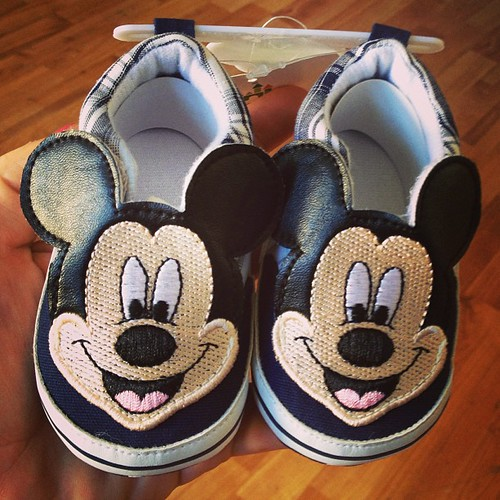 I picked up these cute little #Mickey shoes for Ferrari Corvette's first trip to #Disneyland! What do you think Uncle Kaka @hardysarcade ??