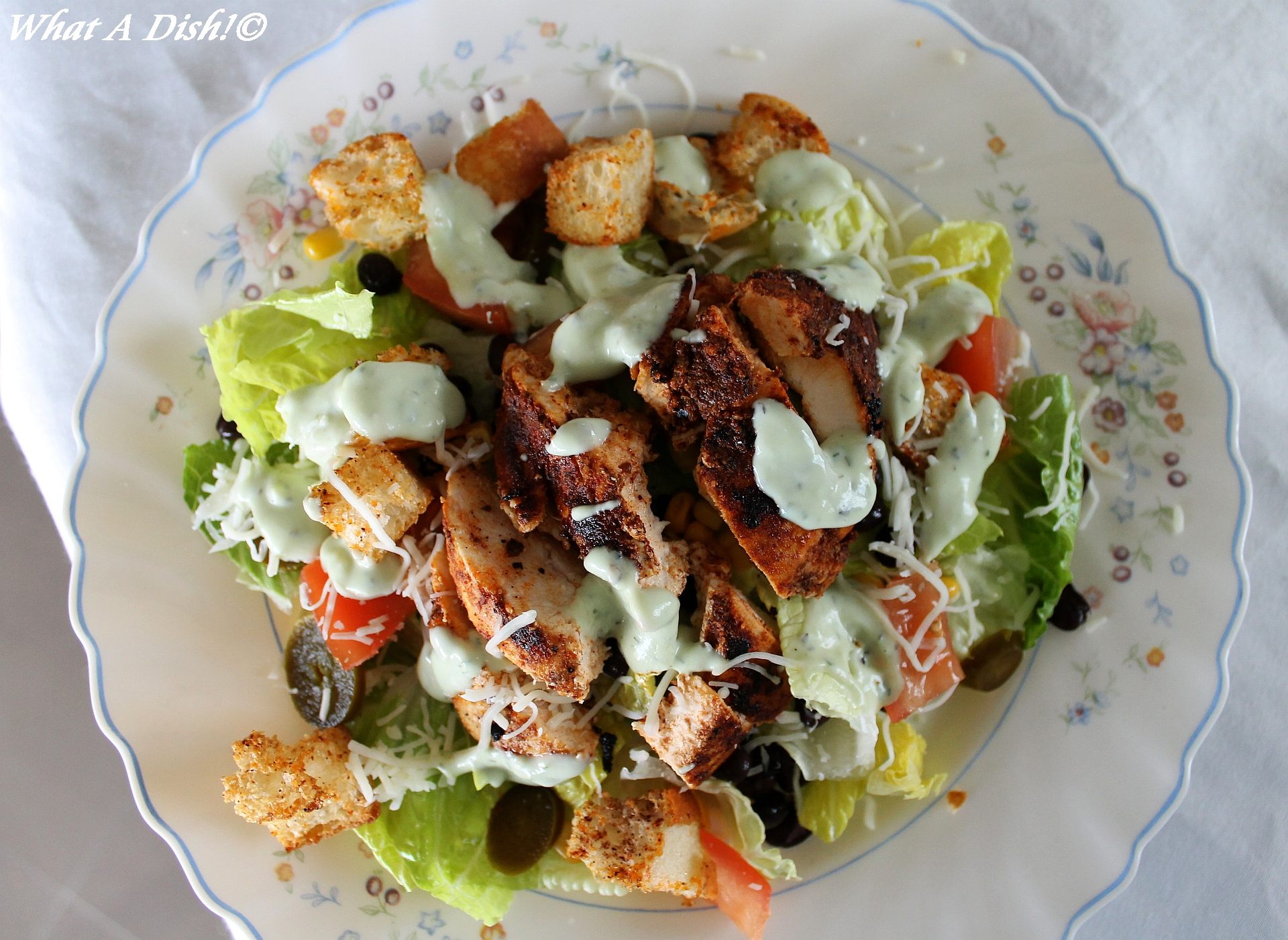 What A Dish!: Southwest Chicken Salad with Avocado Dressing