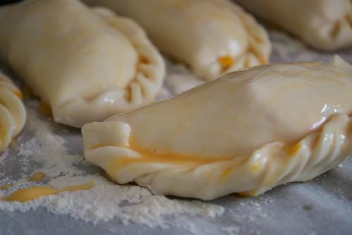 tuna empanadas before baking