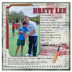 Sam and Brett Lee