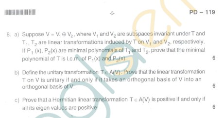 Bangalore University Question Paper Oct 2012:I Year M.Sc. - Mathematics paper I : Algebra