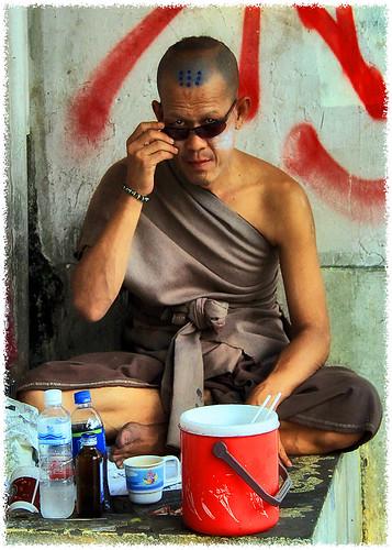 Homeless monk