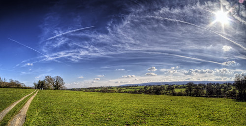 Skyscape near White Cottage, Herefordshire (wide)