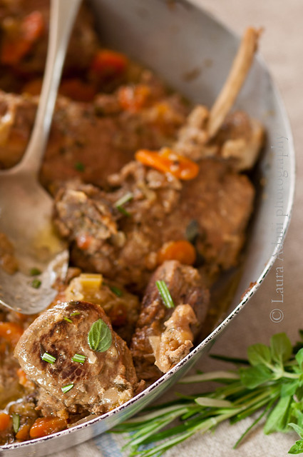 cinghiale al lattewild boar stew with milk