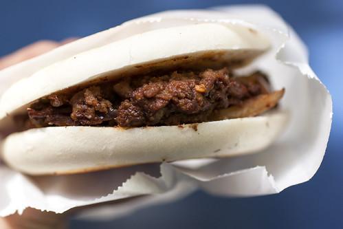 cumin lamb burger @ xi'an famous foods