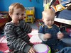 12-4-13 - Casper and Euan playing 4B
