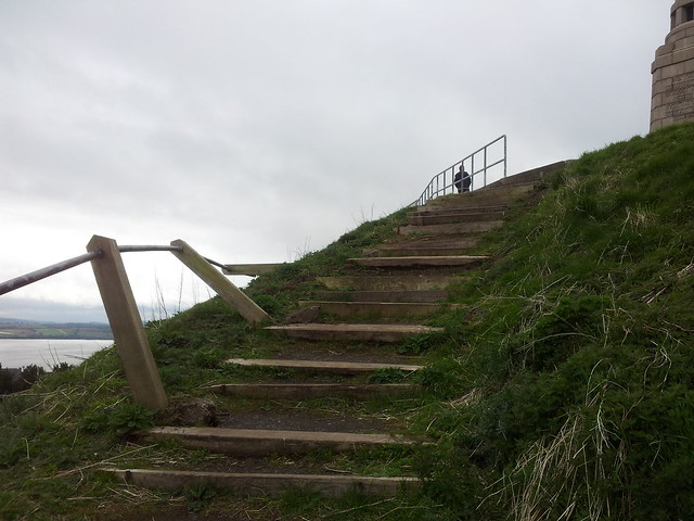 Dilapidated steps at the top of Dundee Law