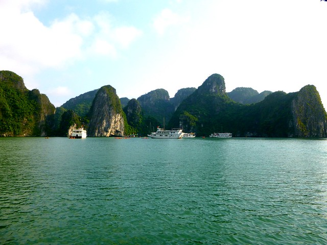 The scenic karsts of Halong Bay, Vietnam