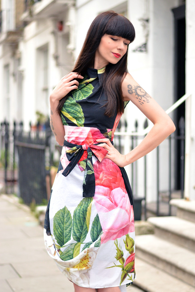 Vivienne Westwood floral dress outfit 1