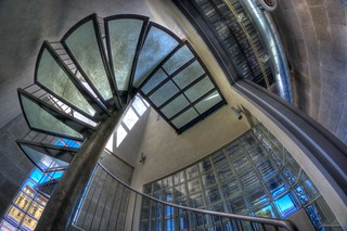 Circular Stairs with Glass Steps