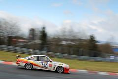 Opel Manta bei der VLN Langstreckenmeisterschaft Nuerburgring 2013, 38. DMV 4-Stunden-Rennen