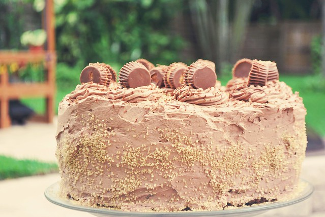 Chocolate-Peanut Butter Cake (Reese's Cake)