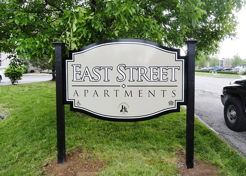 Easy Street Apartments Monument Sign by Redirections Sign & Design