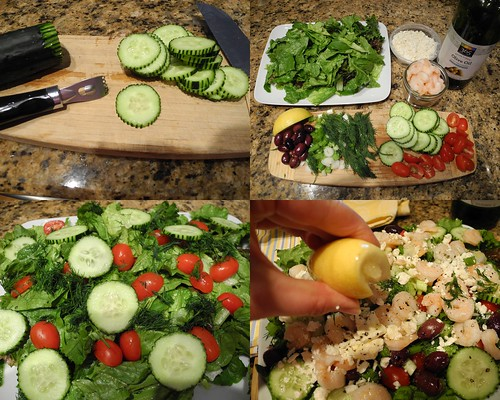 Making the Greek Salad