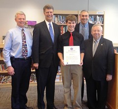 Senator Moore honors local young entrepreneur