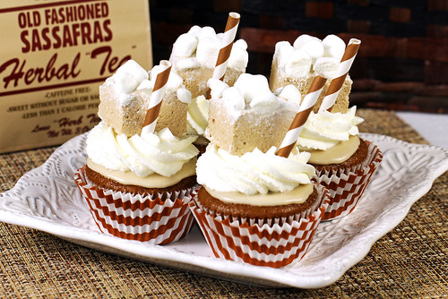 Root Beer Marshmallow Cupcakes