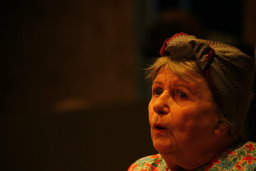 Dorsay Larnach could have been born to play Mrs Culfeathers. Photo © Richard M Marshall