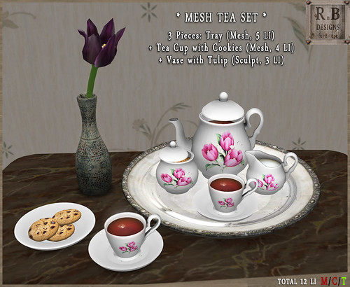 PROMO ! *RnB* Mesh Tea Set - Tulips