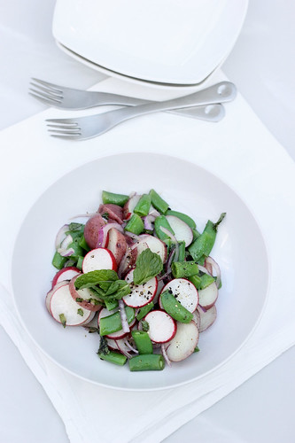 Spring Potato Salad with Sugar Snap Peas and Radishes - Gluten-free + Vegan