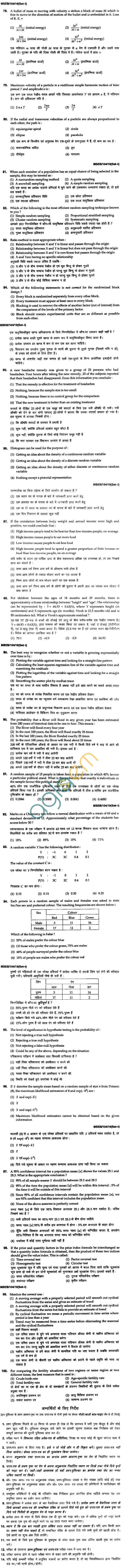BHU UET 2010 B.Ed. Mathamatices Question Paper