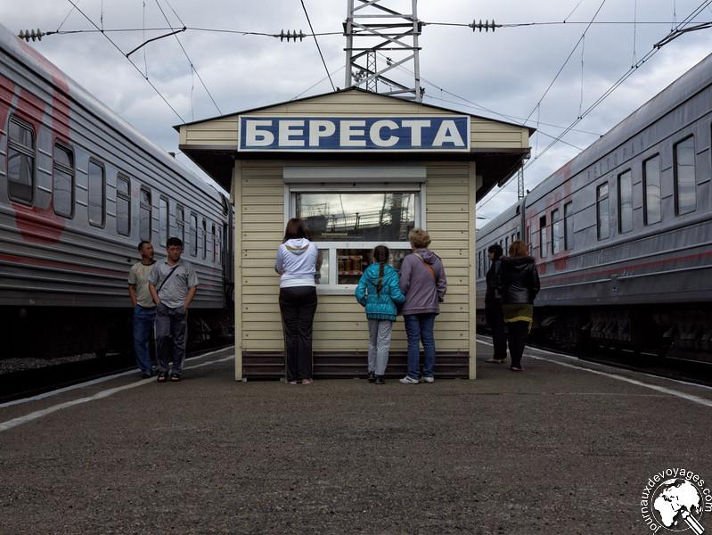 Arrêt en gare du transsibérien