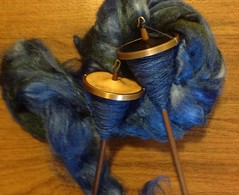 Blue silk spindles