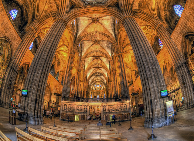 Inside the Gothic Cathedral in Barcelona | Flickr - Photo ...