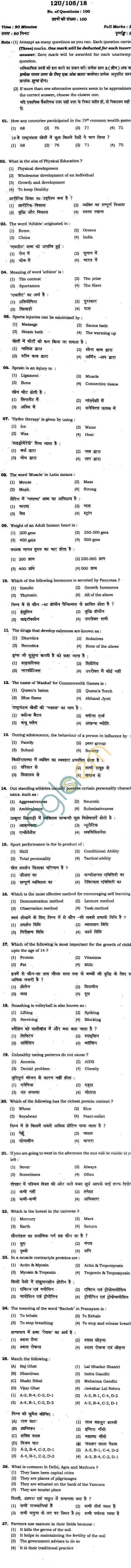 BHU UET 2012B.P.EdQuestion Paper