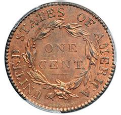 1821 Large Cent reverse