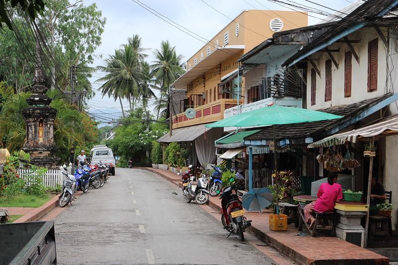 A quiet street scene in Luang Prabang, Laos