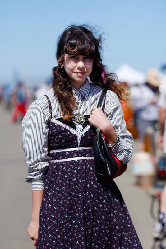 miu_closeup street style, street fashion, women, Alameda Flea Market