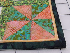 Anne's quilt - detail of piped binding