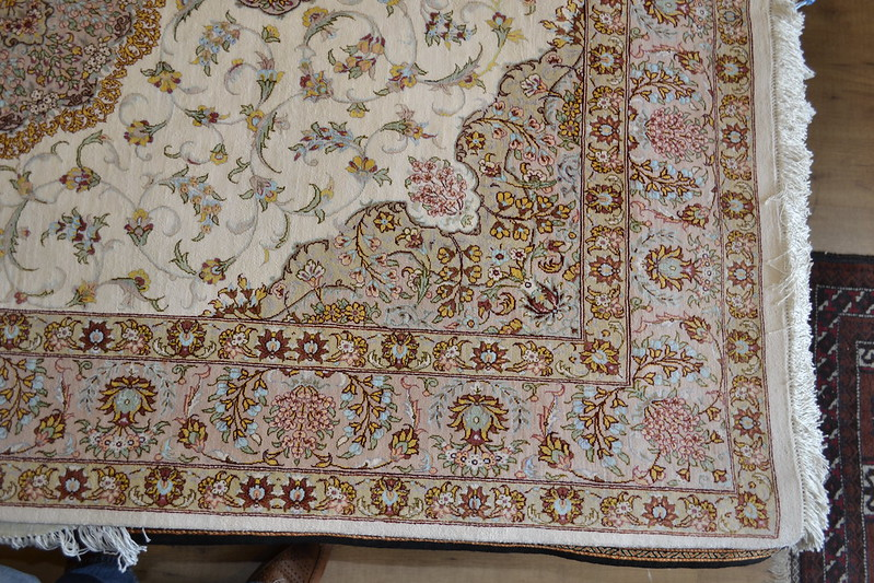 Qum Erami Pure SIlk Persian Area Rug
