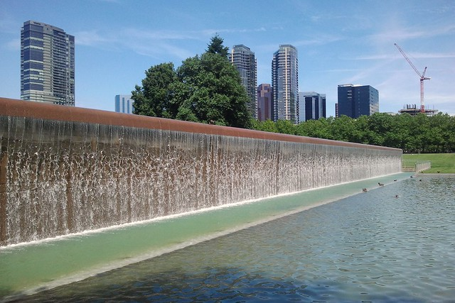 Water Wall at Bellevue Downtown Park