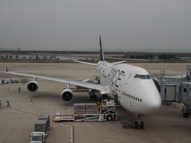TG B747 in Star Alliance Special Color Scheme