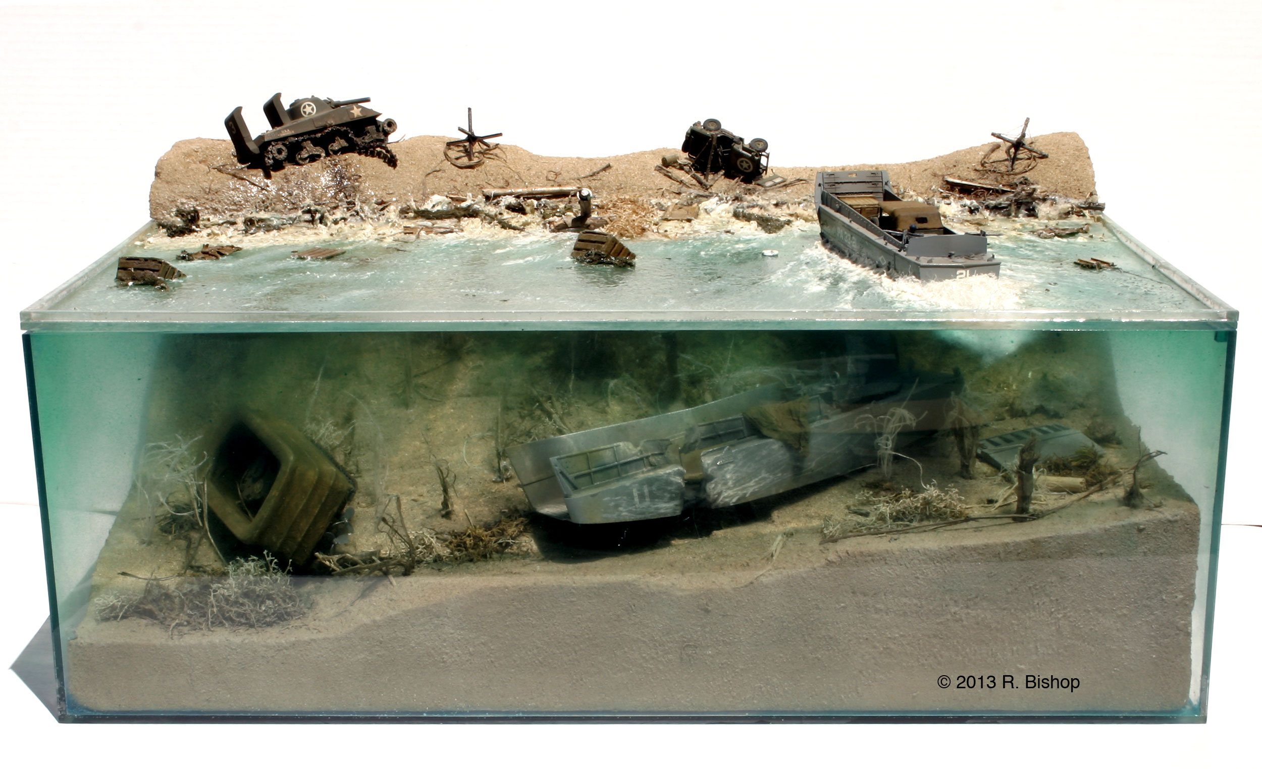 """D-Day diorama """"depicting invasion damage on Normandy Beach ... D Day Invasion Boats"""