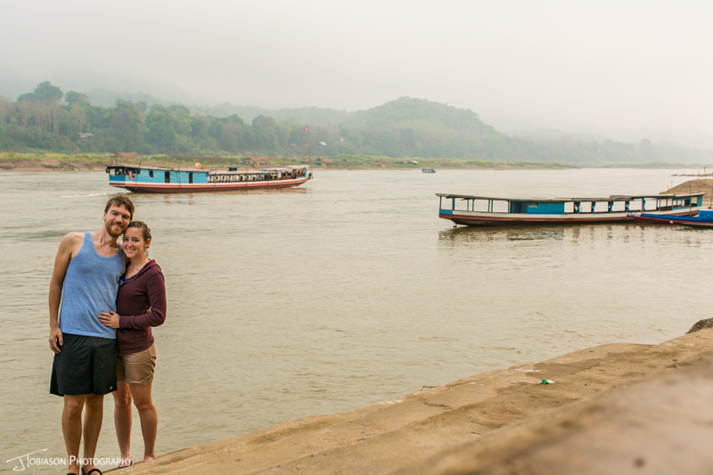 Couple along Mekong River