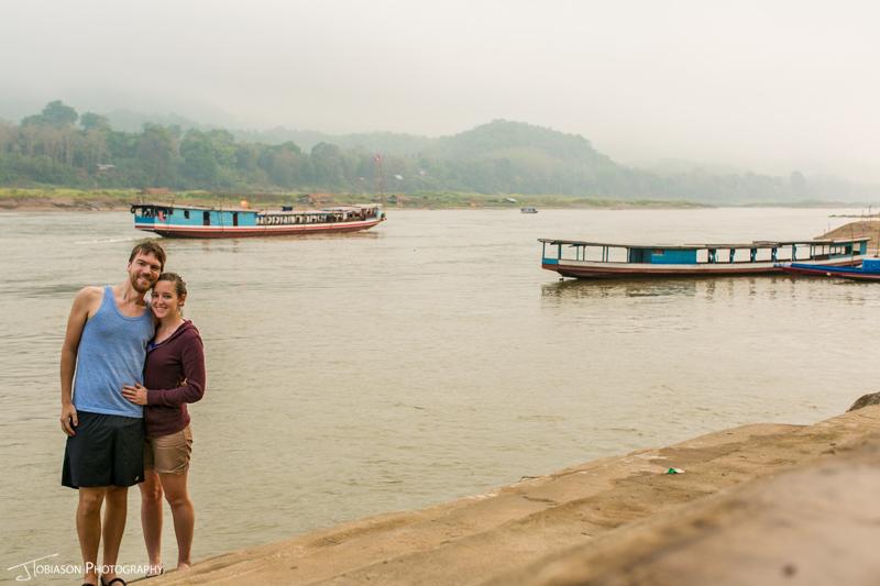Couple along Mekong River